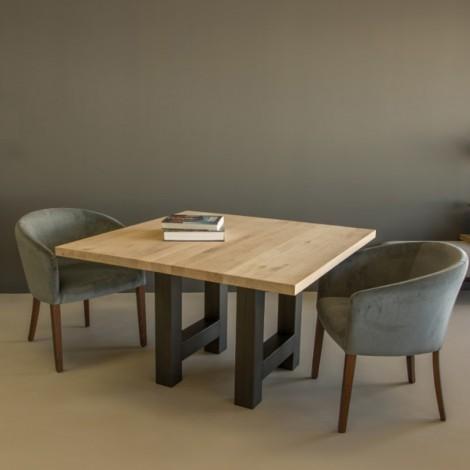 Vierkante Eettafel 150x150 Cm.Vierkante Eettafel Aberdaron