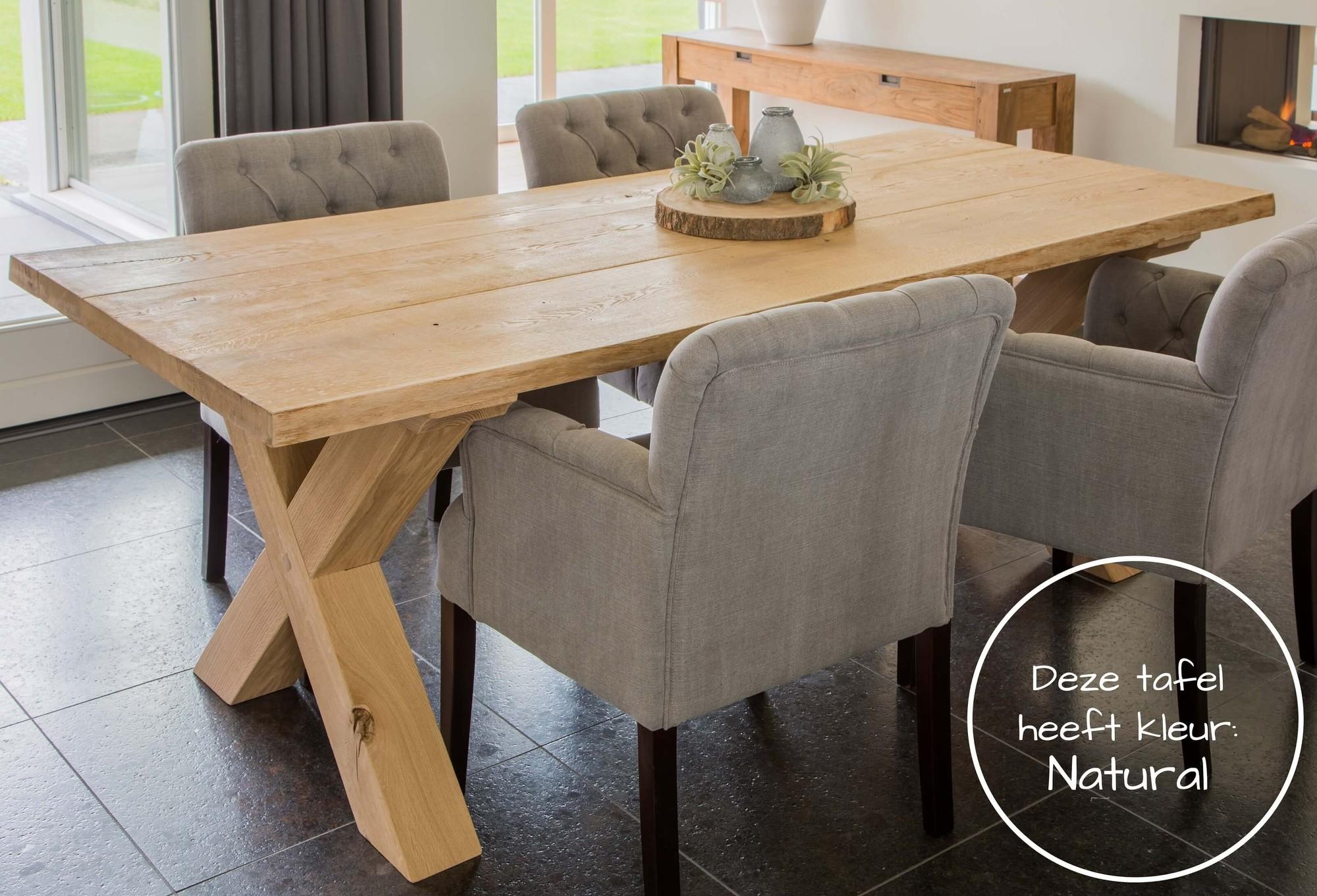 Robuuste Eiken Tafel : Industriële tafel sylvia xxl voor robuuste industriële tafels op