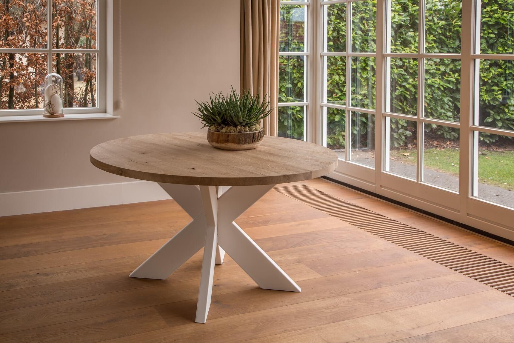 Uitzonderlijk Ronde industriële tafel Norwich White | Tafels99.be &VW37