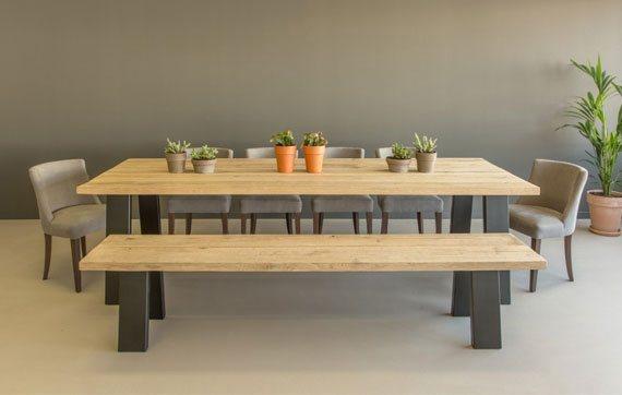 Eiken tafels van robuust hout online kopen shop nu